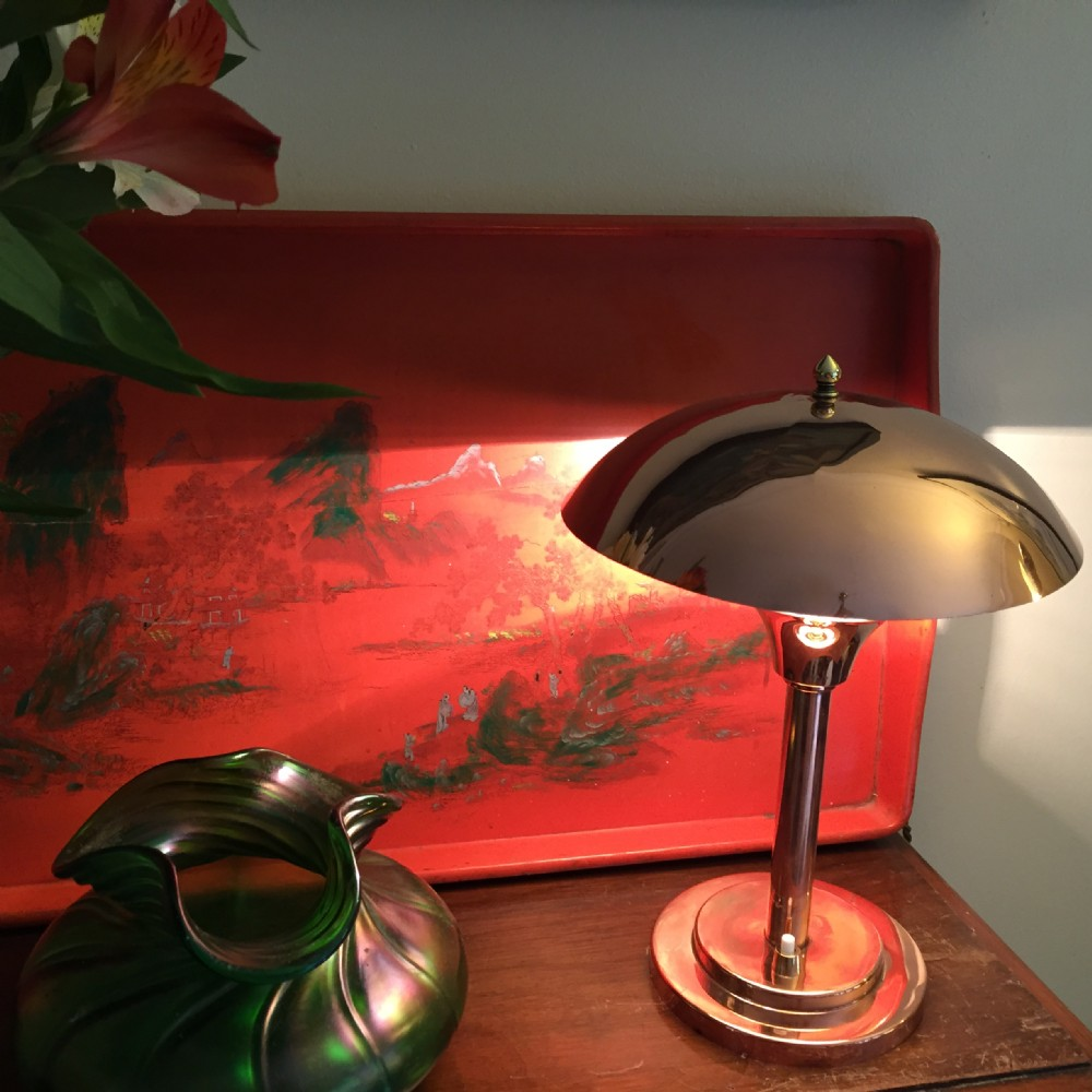 Stylish Art Deco Dome Desk Lamp Copper 341568 Www